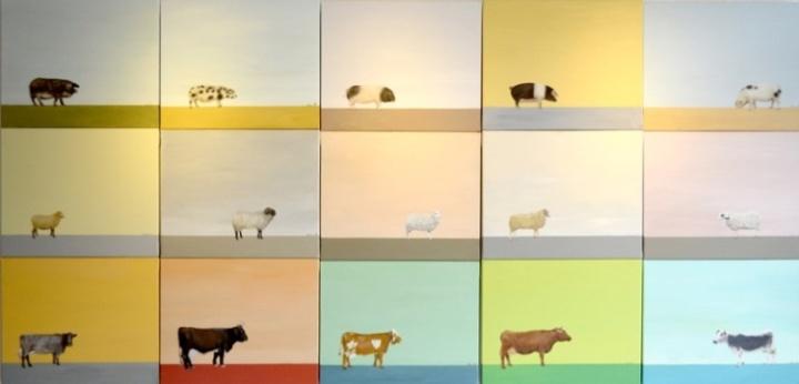 Nutztiere vor Erwartungshorizont